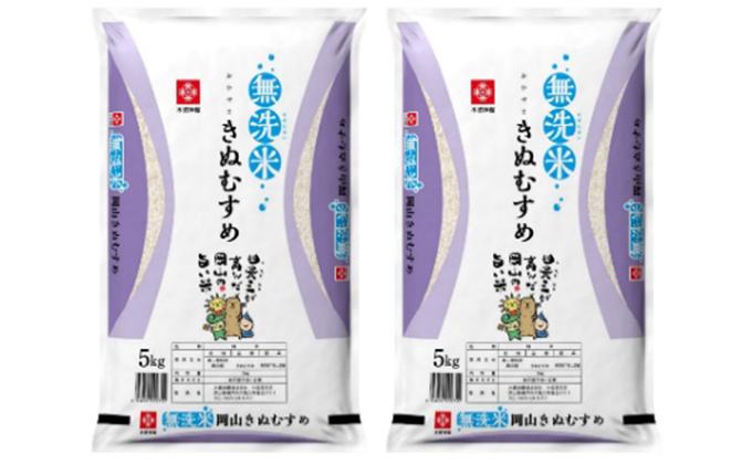 無洗米 岡山県産 特Aランク きぬむすめ 5kg×2袋(10kg)