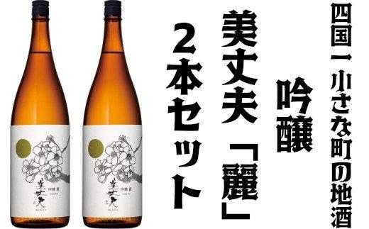 【四国一小さな町の地酒】美丈夫 吟醸 麗2本セット