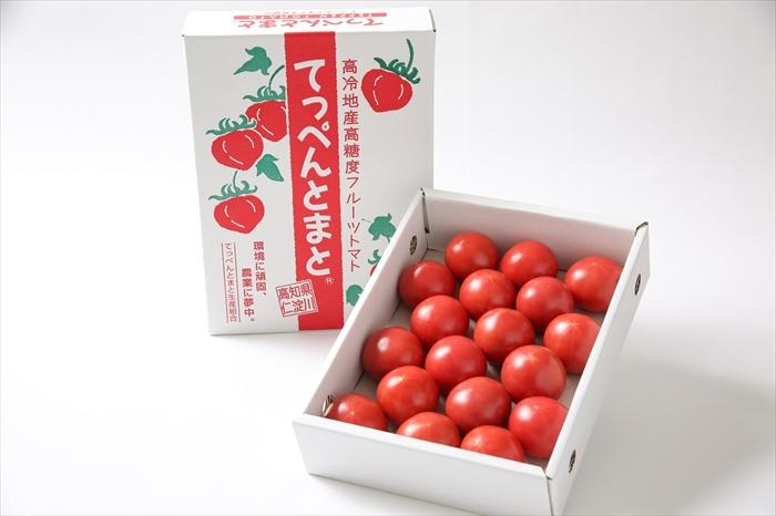 0201101 無加温で収穫する 夏秋限定の [てっぺんとまと](1kg/1箱)