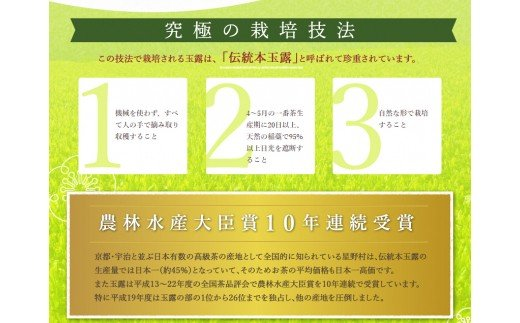 【N-002】八女伝統本玉露:星乃しずく茶Bセット