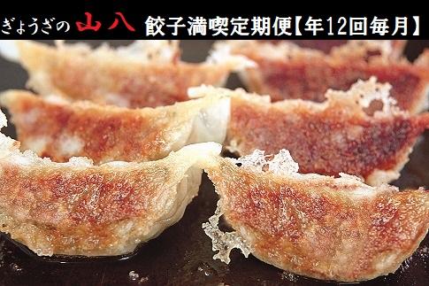 ぎょうざの山八★餃子満喫定期便(年12回毎月)【随時開始】[C6130]