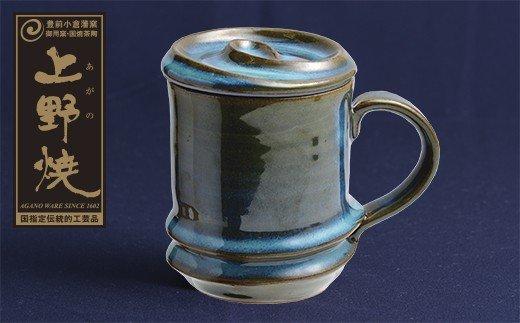 上野焼巴ライン マグカップ(上野緑釉)