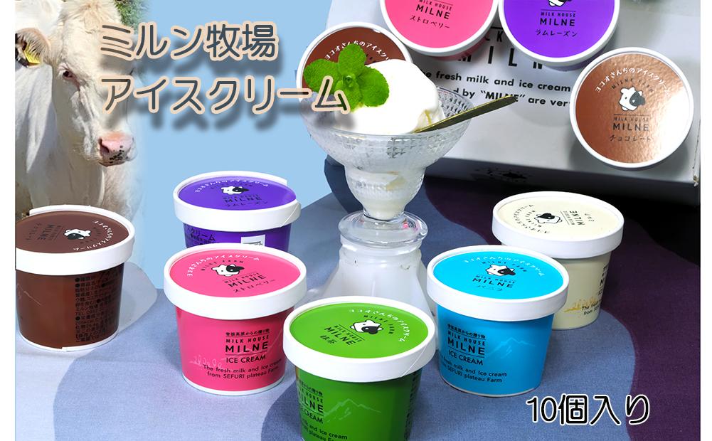 脊振ミルン牧場・ヨコオさんちのアイスクリームプレミアムTセット(10カップ) (H042105)