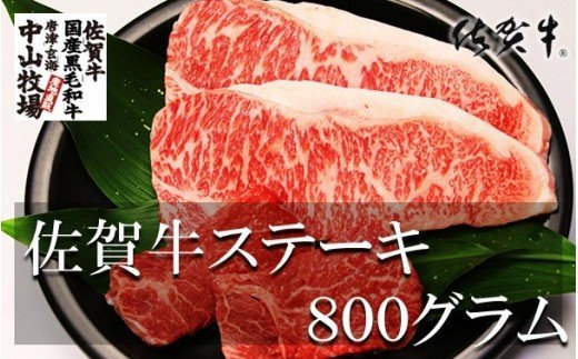 中山牧場 佐賀牛ステーキ 800g