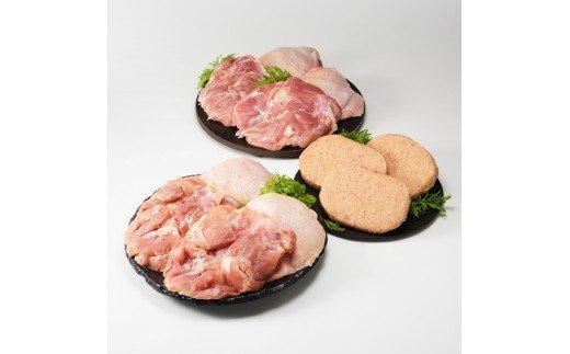 丸福 若どりモモ肉2kgとハンバーグ3個