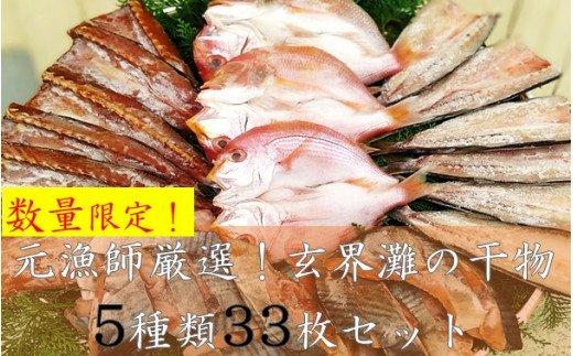 【訳あり】元漁師が手掛ける厳選干物 5種盛セット 合計33枚!!