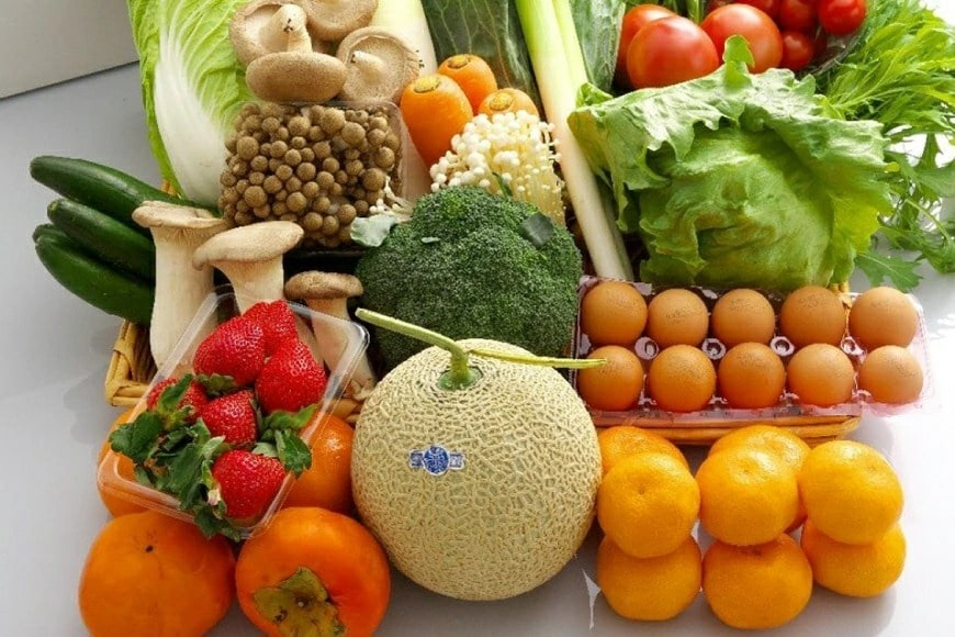 【定期便】【年12回】島原の旬の野菜・果物!おまかせ野菜・果物・卵セット