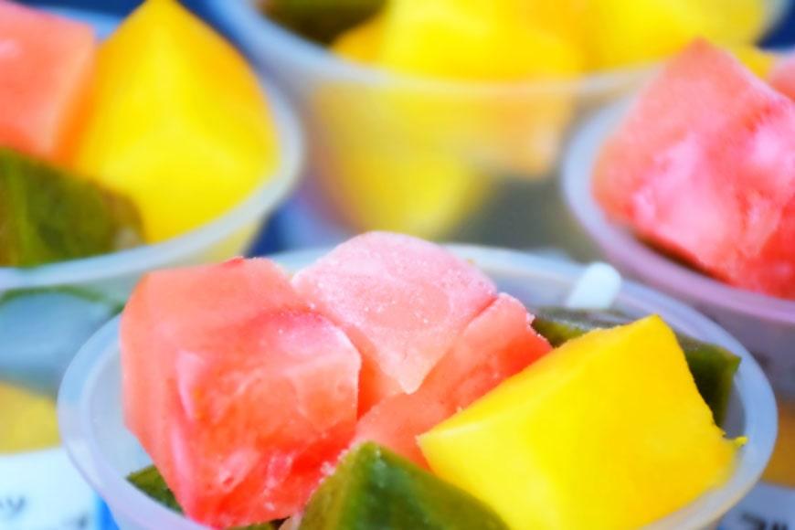 もっちりシャリシャリが癖になる 島原の甘美な宝石 フルーツキューブ