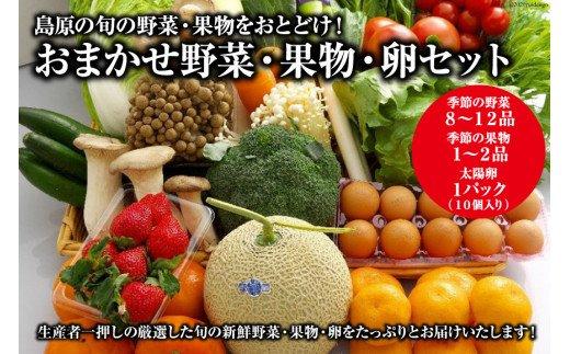 島原の旬の野菜・果物をおとどけ!おまかせ野菜・果物・卵セット