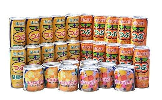つぶドリンク・フルーツ缶詰 28缶セット