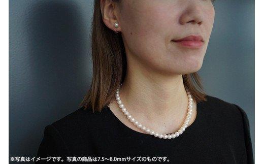 長崎県産真珠 ネックレス・イヤリングセット(8.0〜8.5mm)