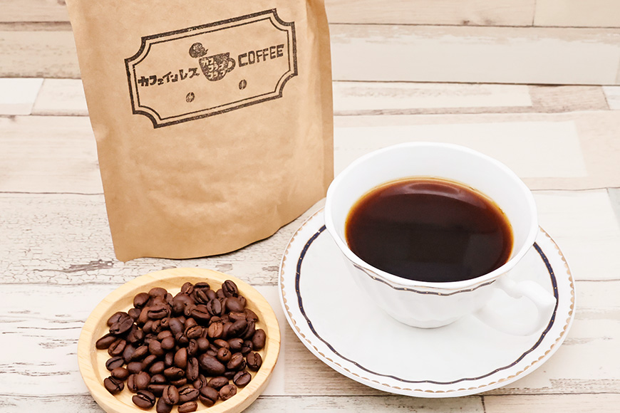【カフェインレス専門店】おいしいカフェインレスコーヒー 豆のまま300g<カフェ・フラップフラップ>【長崎県雲仙市】