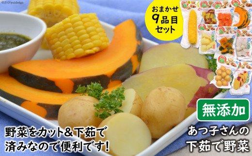 あつ子さんの下茹で野菜9品目セット