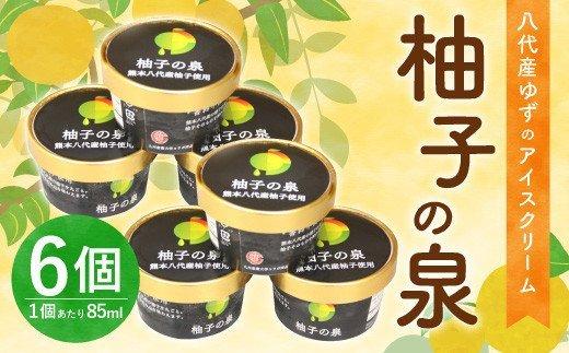 八代産 ゆずのアイスクリーム「柚子の泉」6個 柚 アイス