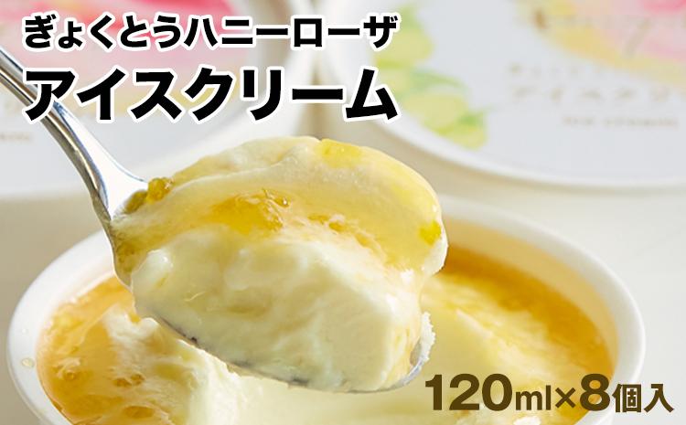 ハニーローザアイスクリーム 120ml×8個《8月中旬-9月中旬より順次出荷(土日祝除く)》熊本県 玉東町 ぷらっとぎょくとう ハニーローザ アイスクリーム すもも スイーツ お菓子 贈答 ギフト