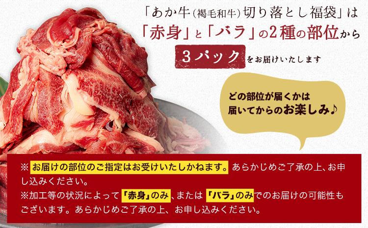 あか牛(褐毛和牛)切り落とし福袋 1.65kg 熊本県産 肉 和牛 牛肉 冷凍 くまモンパッケージ焼き肉のタレつき 訳あり 不揃い《3-7営業日以内に順次出荷(土日祝除く)》