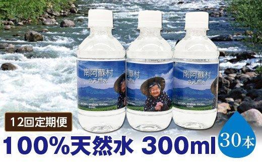 【12回定期便】南阿蘇村天然水300mlペットボトル×30本(かなばあちゃんラベル)