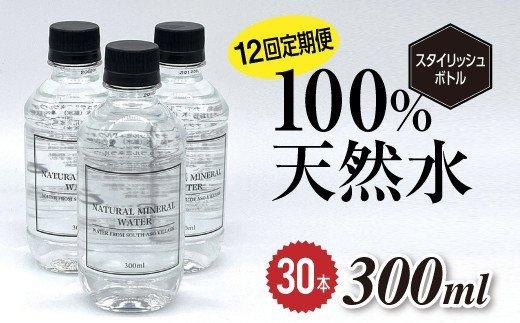 【12回定期便】南阿蘇村天然水300mlペットボトル×30本(スタイリッシュラベル)