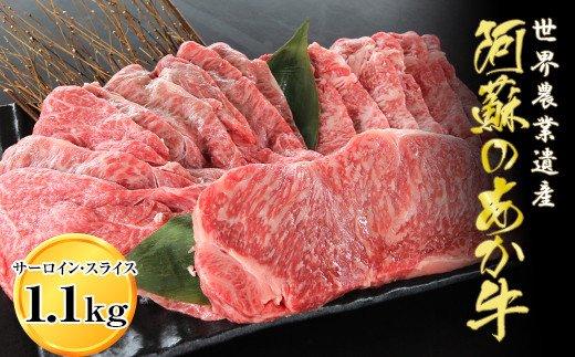くまもとあか牛サーロインステーキとスライスセット1.1kg