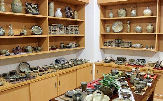 FKK99-027 国指定伝統的工芸品「小代焼」 夫婦茶碗 (中)12.5cm、(小)12cm