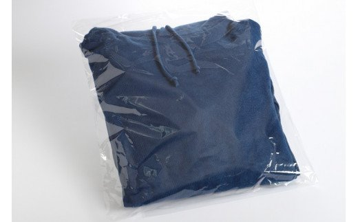 <じゅうじ染め・藍染めパーカー>