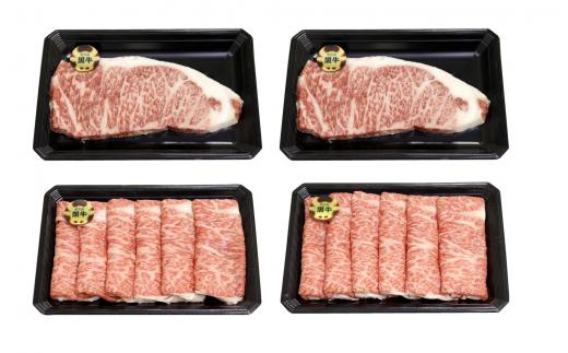 鹿児島 黒毛和牛 サーロインステーキ・すき焼きセット【E-301】