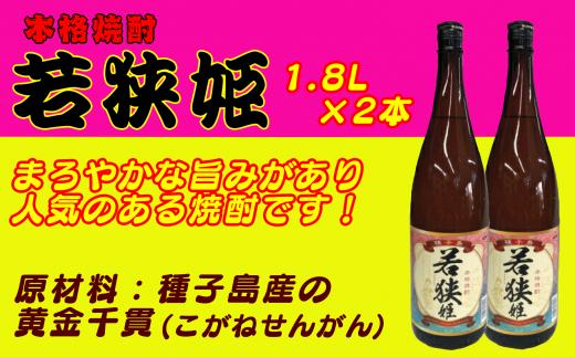 焼酎 若狭姫1.8L 2本セット 300pt