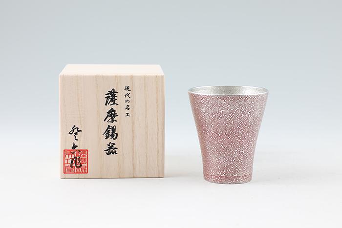 JALふるさと納税限定 薩摩錫器フリータンブラー赤!鹿児島の伝統工芸の技が魅せる薩摩錫器で造られた錫製酒器で贅沢なひとときを【岩切美巧堂】