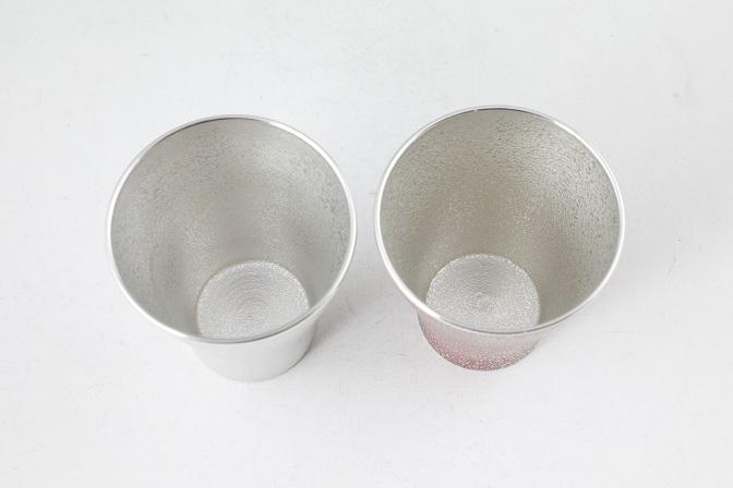 JALふるさと納税限定 薩摩錫器フリータンブラー赤白セット!鹿児島の伝統工芸の技が魅せる薩摩錫器で造られた錫製酒器で贅沢なひとときを【岩切美巧堂】