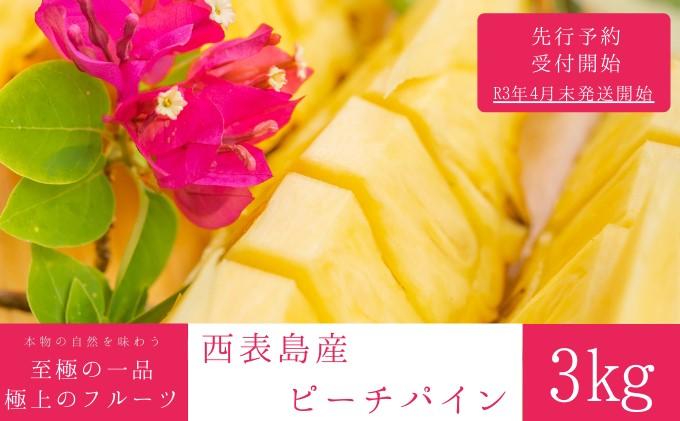 【2021年発送】☆『1%の奇跡』☆芳醇な桃の香り☆ ピーチパイン 約3kg(3~5個入)