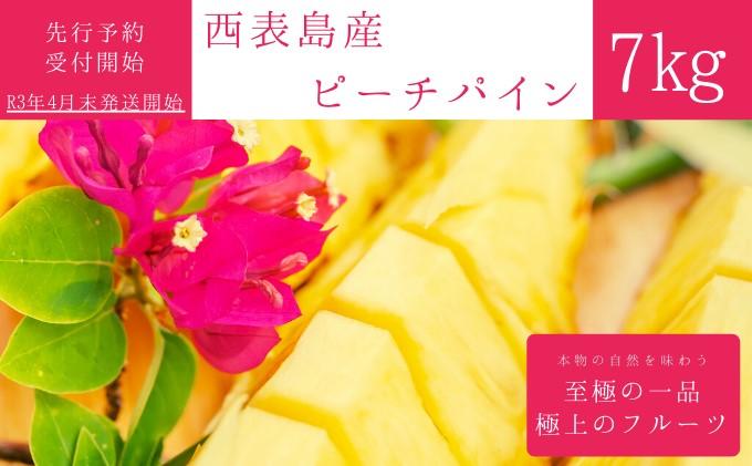 【2021年発送】☆『1%の奇跡』☆芳醇な桃の香り☆ ピーチパイン 約7kg(10~12個入)